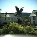 Llanwrtyd Wells, town Square, Red Kite Statue, Spirit in the Sky