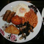 Fill Welsh breakfast at Cerdyn Villa B&B
