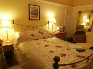 Double ensuite guest room at Cerdyn Villa B&B