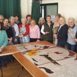 community stained glass class at Myddfai Hall