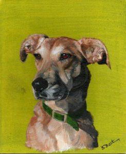 Dog portrait by Berni. The loss of a doggy companion