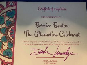 certificate of completed celebrant training