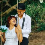 photo by matheus ferrero via unsplash - newly weds on a tree swing