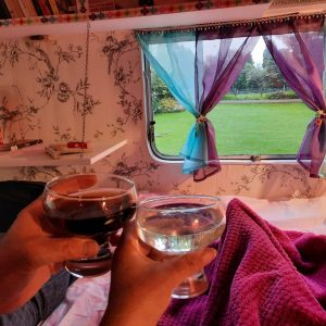 inside the Cwtch Hwtch glamping