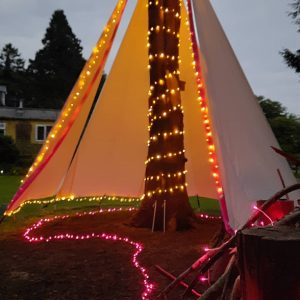bespoke tepee for a ceremony in the garden